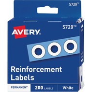 Avery Reinforcement Labels White 200pk 5729