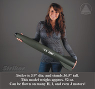Public Missiles PML Flying Model Rocket Kit Striker