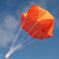 "Top Flight Parachute Neon Orange 12"" Rip Stop Nylon  PAR-12"
