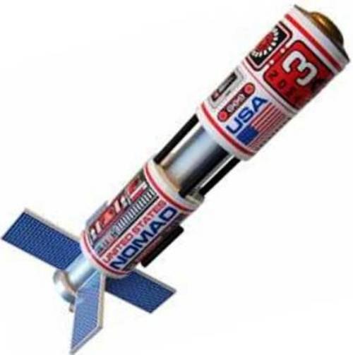 Custom Flying Model Rocket Kit Nomad 10054