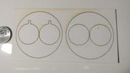 Semroc Centering Rings Fiber 2xBT-50 to BT-70(2 ring set)  RA-2x50-70S *