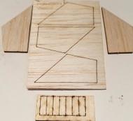 Semroc Laser-Cut Fins Vector-V™ 1/16 Basswood(5 fins) and 1/16 Basswood Vanes  SEM-FES-0871 *