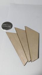 "Semroc Laser-Cut Fin - FSI Micro™ 1/16"" Basswood(3 fins)  SEM-FFS-1008 *"