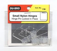 "Du-Bro Nylon Hinges Small 7/16"" (6pk) 118 **"