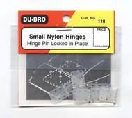 "Du-Bro Nylon Hinges Small 7/16"" (6pk) 118 **"
