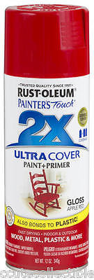Rustoleum Painters Touch 2X Gloss Apple Red Paint & Primer 12oz Spray Paint  18778