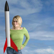 Mad Cow Flying Model Rocket Kit Big Fizz 4''