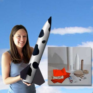Mad Cow Flying Model Rocket Kit Cowabunga 4''