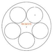 Semroc Centering Rings Fiber 5x BT-20 to BT-70(3pk)  RA-5x20-70A *