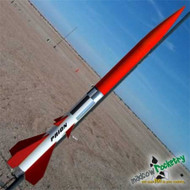 """Mad Cow Flying Model Rocket Kit Prion 4"""" (38mm)"""