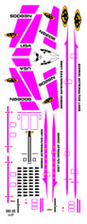 Semroc Decal - Orbital Transport™ Hot Pink  SEM-DKV-66HP *
