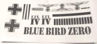 Semroc Decal - MX Blue Bird Zero™  SEM-DKMX-06 *