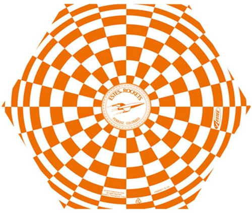 Estes Accessories Parachute 12in Orange  2264 **