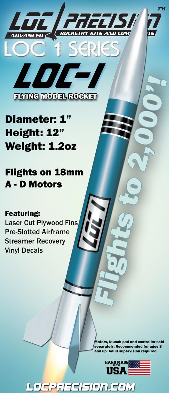 LOC Precision Flying Model Rocket Kit 1