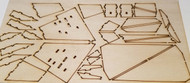"Semroc Laser-cut Fin Set MX Orbital Transport™ 1/32"" Basswood FMX-01 *"