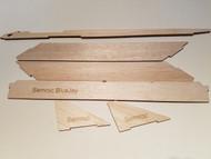 Semroc Laser-Cut Fins Blue Jay™ 3/32 Balsa (parts) 3/16 Balsa(keel) 3/16 Basswood(hooks) SEM-FC-03 *