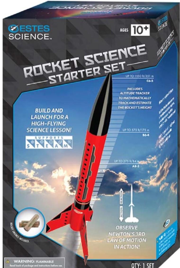 Estes Flying Model Rocket Launch Set Rocket Science with Motors 5302 **