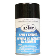 Testors 1254 Black Metallic 3 oz. Spray Paint **