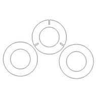 Semroc Centering Rings Plywood Set 54mm to T-4.0 with 3 fins(3 ring Set) SEM-CR-54mm-4.0P-3F *