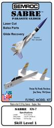 Semroc Instructions - Sabre Parasite Glider™   SEM-IKN-7 *