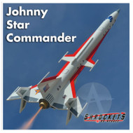 Shrockets Flying Model Rocket Kit Johnny Star Commander  SHR 05150