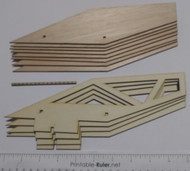 Semroc Laser Cut Fin Set Plywood Estes Super Big Bertha Upgraded  SEM-FES-9719P *