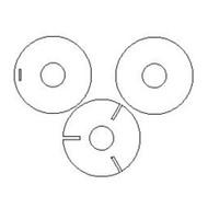 Semroc Centering Ring Set Plywood Estes Super Der Red Max 9705   SEM-CR-ES-9705P *
