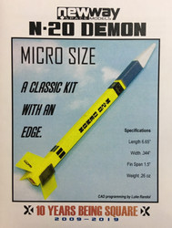 NewWay Flying Model Rocket Kit MICRO N-20 Demon MICRO  NWY-30