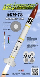 "LOC Precision Flying Model Rocket Kit 2.63"" AGM-78 Standard ARM  TWT-SARM26"