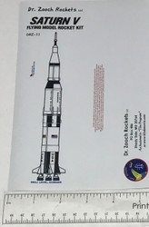 Dr Zooch Box Sticker - Saturn V  DRZ-DDRZ-11S *