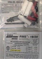 Aerotech 18mm Composite Model Rocket Motor RMS D13-10W (3pk)  41310   <Required to Pay for Parcel Select Shipping>
