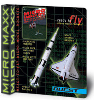 Quest Flying Model Rocket Kit Micro(MX) Saturn V & Space Shuttle Orbiter 5643
