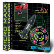 Quest Flying Model Rocket Kit MX Space Fighter & Alien UFO 5642