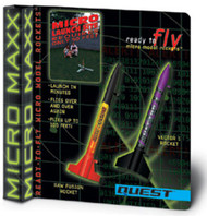 Quest Flying Model Rocket Kit MX Raw Fusion & Vector 1 Rocket  5644