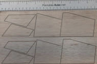 Semroc Laser-Cut Fins Estes Little Beth X-2 from Model Rocket News (8 pieces) 3/32 Balsa  SEM-FES-MRN *
