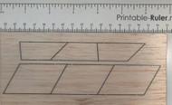 Semroc Laser-Cut Fins Estes SAM-4 1357 (6 pieces) 3/32 Balsa  SEM-FES-1357 *