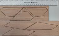 Semroc Laser-Cut Fins Estes Hercules 1377(6 fins) 3/32 Balsa  SEM-FES-1377 *