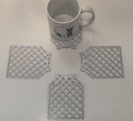 SpaceX Grid Fins Not a Coaster Deluxe Mirror Plex(set of 4)  9105