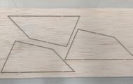 Semroc Laser-Cut Fins Estes 1370 Meteor(3 fins)3/32 Balsa  SEM-FES-1370 *