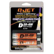 Quest Motor 18mm Composite Model Rocket Motors Q-Jet D20-4W(2pk) 6130  <Required to Pay for Parcel Select Shipping> **