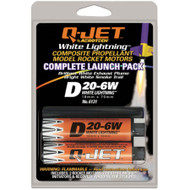 Quest Motor 18mm Composite Model Rocket Motors Q-Jet D20-6W(2pk) 6131  <Required to Pay for Parcel Select Shipping> **