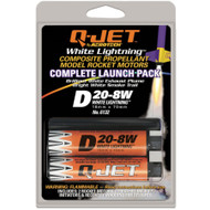 Quest Motor 18mm Composite Model Rocket Motors Q-Jet D20-8W(2pk) 6132  <Required to Pay for Parcel Select Shipping> **