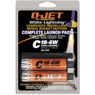 Quest Motor 18mm Composite Model Rocket Motors Q-Jet C18-6W(2pk) 6126  <Required to Pay for Parcel Select Shipping> **