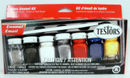 Testors 9115 Enamel Paint Set (1 Brush, 7 Jars) **
