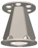 Semroc Ejection Baffle Kit Conical Design Series LT-125   SEM-EB-125 *