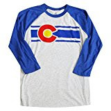 CO UNISEX BLUE/WHITE 3/4 RAGLAN