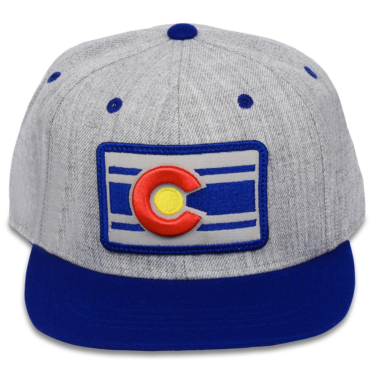 f378136b46c92 HEATHER CLASSIC SNAP BACK Blue - Breckenridge hat company