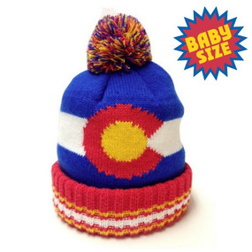 KIDS POM BEANIE CO FLAG