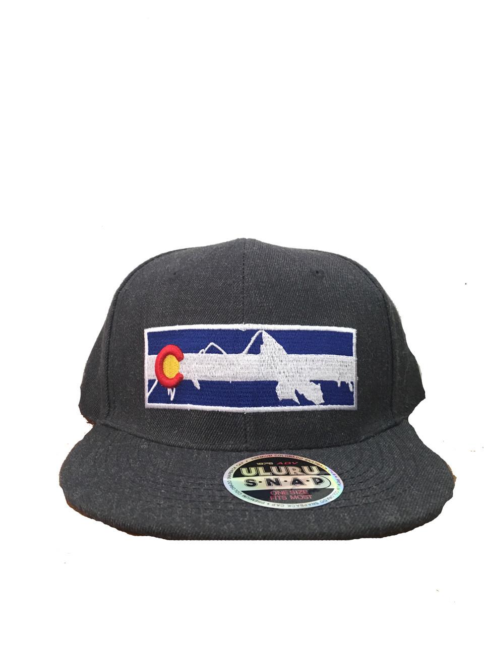 f925ea35d76 CAP SNAP BACK FLAT BRIM CO MTN - Breckenridge hat company