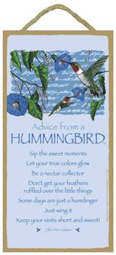 ADVICE FROM A HUMMINGBIRD